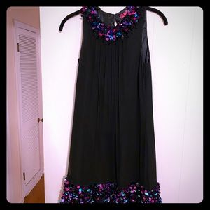 Black sequined Betsey Johnson dress